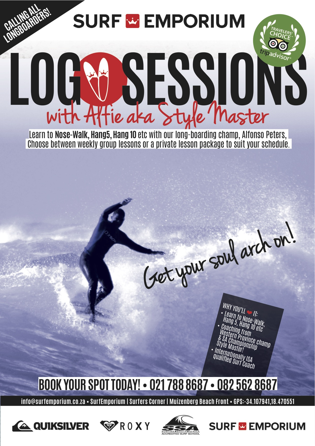 Log Sessions Surf Lessons