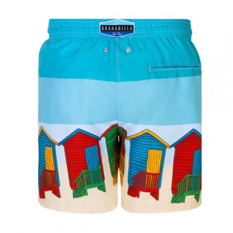 Muizenberg Huts Blue - Granadilla swimwear