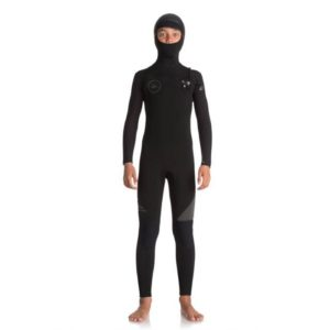 Quiksilver - Boys 5/4/3mm Hooded Syncro CZ Wetsuit