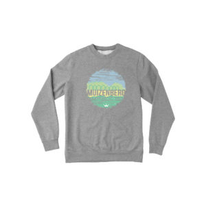 Muizenberg Huts Crew Fleece (Heather Grey) - Surf Emporium