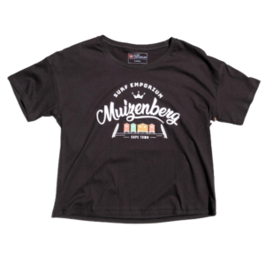 Muizenberg Huts Womens Andi Tee (Pirate Black) - Surf Emporium