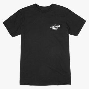 Surfers Corner Mens T-Shirt (Black) - Surf Emporium