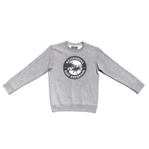 Surfers Circle Kids Crew Fleece (Heather Grey) - Surf Emporium