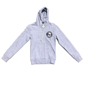 Surfers Circle Zip Thru Fleece (Athletic Heather) - Surf Emporium