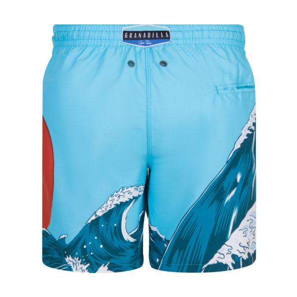 Hokusai Wave (Green Red) - Granadilla Swimwear