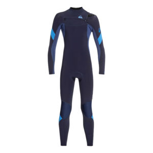 Quiksilver - Boys 4/3mm Syncro Chest Zip GBS Wetsuit
