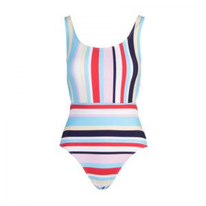 Monokini Multicolour Stripes One Piece - Granadilla