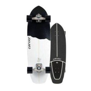 """Carver - 2020   32.5"""" Black Tip Surfskate"""