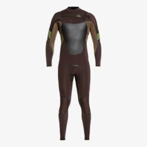 Quiksilver - 4/3mm Syncro Plus Chest Zip (Brown Dark Beech)